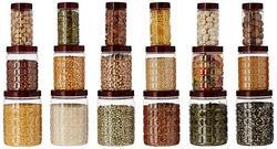 Amazon Brand Solimo Checkered Jar Set of 18
