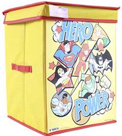 DC-SuperFriends-Fabric-Toys-Organizer-with-Lid-Blue-Large
