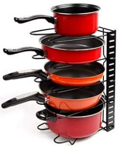 Adjustable-Multipurpose-pan-and-Pot-tawa-Rack-Holder-Stand-Plate-Dish-lid-Tray-Utensils-cookware-Cupboard-Cabinet-Storage-Shelf-Shelves-Organiser-Organizer-for-Kitchen-Black