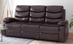 Flipkart Perfect Homes Costello Leatherette Manual Recliners  (Finish Color - Brown)