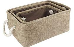 HomeStorie-Eco-Friendly-Foldable-Storage-Basket-Bins-Organizer-Pack-of-3-Olive