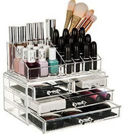 4-Drawer-Plastic-Cosmetic-Makeup-Jewellery-Lipstick-Storage-Box-Transparent