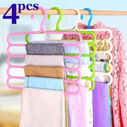INOVERA LABEL 5 Layer Pants Clothes Hanger Wardrobe Storage Organizer Rack Set of 4 32l x 1b x 33h cm
