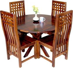 Induscraft-Sheesham-Wood-Solid-Wood-4-Seater-Dining-Set-Finish-Color-Brown