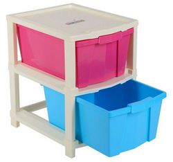 Joyful Studio 2 Plastic Modular Drawer System White