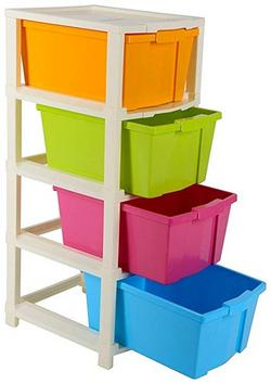 Joyful Studio 4 XLPlastic Modular Drawer System Multi Colour