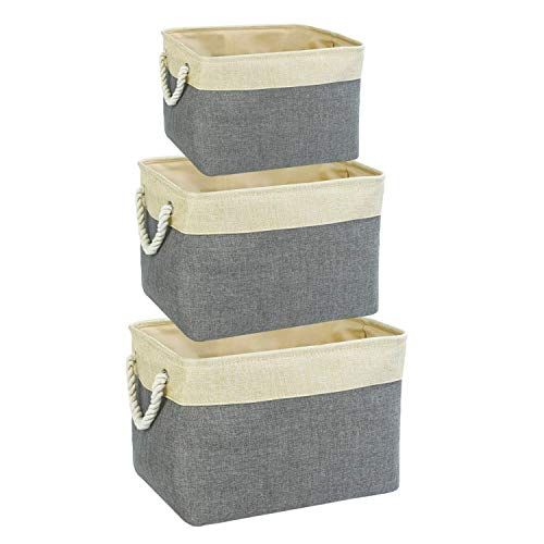 Jute basket storage pack of 3