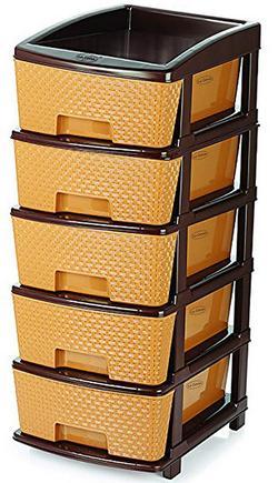 La Corsatm Plastic 5 Tier Magnum Drawer Storage Organiser