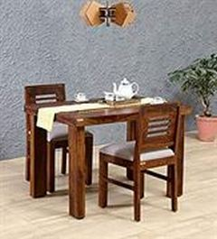 Monika-Wood-Furniture-Sheesham-Wood-Dining-Table-2-Seater-Dining-Table-with-2-Chairs-Including-Cushions-Dining-Room-Furniture-Brown-Finish
