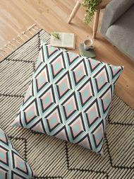 Pastel Colours Geometric Pattern Pillow