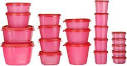 SimpArte Plastic Grocery Container 22 Pieces Pretty Pink