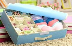 Styleys-15-1-Multi-Compartment-Cell-Foldable-Storage-Box-Closet-Organizer-Non-Smell-Drawer-Organizer-15-grids-1-for-Drawer-Divider-for-Socks-Bra-Panty-Tie-Scarf-etc-Color-Blue