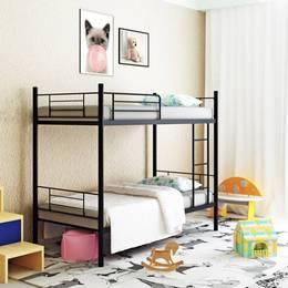 Camabeds Stooreys Modern Bunk Metal Single Bed Finish Color Black