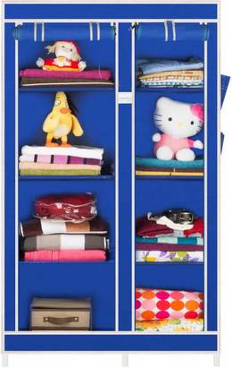 CbeeSo Carbon Steel Collapsible Wardrobe Finish Color Royal Blue