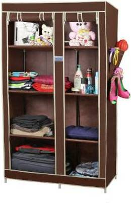 CbeeSo Stainless Steel Collapsible Wardrobe Finish Color Dark Brown