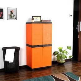 Cello Novelty Big Plastic Cupboard Finish Color ORANGE BROWN