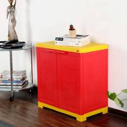 Cello Novelty Compact Plastic Cupboard Finish Color Red Yellow