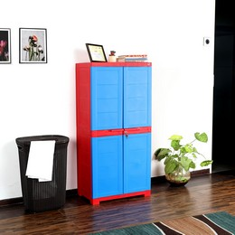 Cello Novelty Large Cupboard Red and Blue