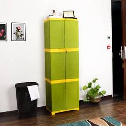 Cello-Novelty-Large-Plastic-Cupboard-Finish-Color-GREEN-YELLOW