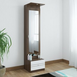 Crystal Furnitech Elfin Engineered Wood Dressing Table Finish Color Wallnut WhiteJustHere