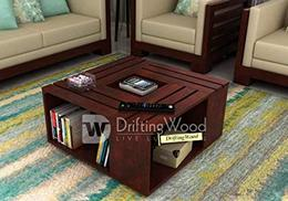 DriftingWood-Solid-Sheesham-Wood-Coffee-Table-for-Living-Room-Center-Table-Mahogany-Finish