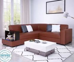 Flipkart Perfect Homes Conwy Leatherette 5 Seater Sofa (Finish Color - Brown)