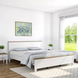 Flipkart-Perfect-Homes-Legato-Solid-Wood-Queen-Bed-Finish-Color-White-with-Country-Oak