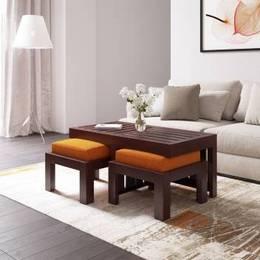Flipkart Perfect Homes PureWood Sheesham Coffee Table Finish Color Mahogany