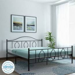 FurnitureKraft-Baia-Mare-Metal-Queen-Bed-Finish-Color-Black