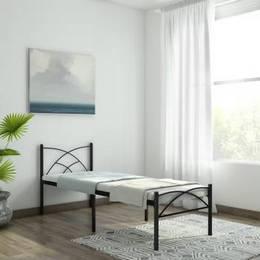 FurnitureKraft-Berlin-Metal-Single-Bed-Finish-Color-Black