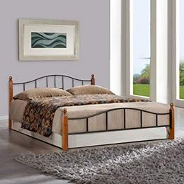 FurnitureKraft-Kansas-Queen-Size-Metal-Bed-Glossy-Finish-Multicolour