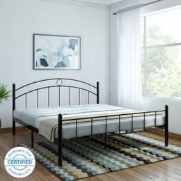 FurnitureKraft Nancy Metal King Bed Finish Color BlackJustHere
