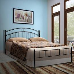 FurnitureKraft-Santiago-with-Ply-Metal-Queen-Bed-Finish-Color-Black
