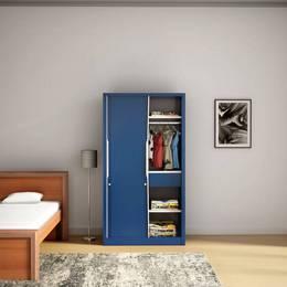 Godrej Interio Slide N Store Compact Metal Almirah Finish Color Tex Phiroza Blue