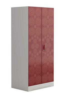 Godrej Interio Slimline Fusion 2 Door 2 Shelf Metal Almirah Finish Color Russet and Copper Brown