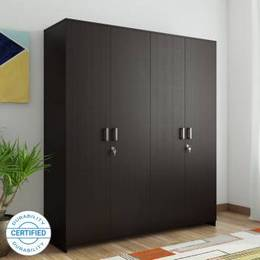 HomeTown-Prime-4-Door-Wenge-Engineered-Wood-Almirah-Finish-Color-Wenge
