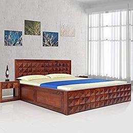 Induscraft-Sheesham-Wood-Solid-Wood-King-Drawer-Bed-Finish-Color-Brown