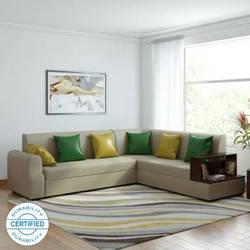 Muebles Casa Marco Leatherette 6 Seater Sofa (Finish Color - Beige)