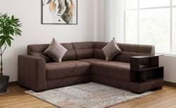 Muebles Casa Modish Fabric 5 Seater Sofa (Finish Color - Brown)