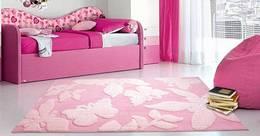 Saral Home Pink Polyester Carpet 120 cm X 180 cm