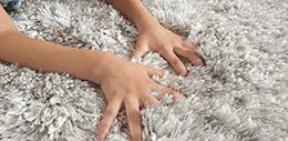 TAUHID CARPET Soft Anti Skid Shaggy Area Rugs White and Silver 2.9 x 5ft 2 Inch Pile Height