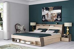 Zuari-Flow-King-Size-Engineered-Wood-Bed-With-Hydraulic-Storage-Particle-Board-Multicolouram