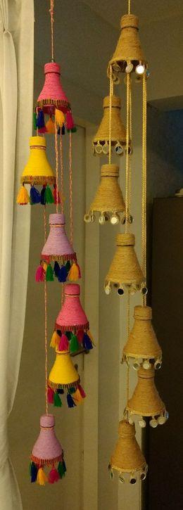 Amazing decorative hanging from bottle bedroom decor ideas 2