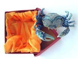 Blue-Crab-Enameled-Jeweled-Box