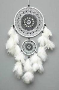 Daedal-Dream-Catchers-Milky-Way-Wool-Windchime-17.71-inch-White