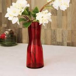 Glass-Vase-Red-colored