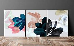 Flower Multieffect UV Textured Panel Painting 3 piece art