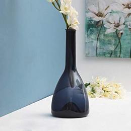 Home Centre Eadric Narrow Neck Glass Vase Blue