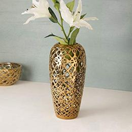 Home Centre Stellar Celestial Cutwork Vase Gold