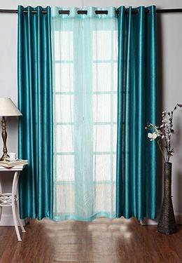 Homefab India 3 piece eyelet polyester door curtains